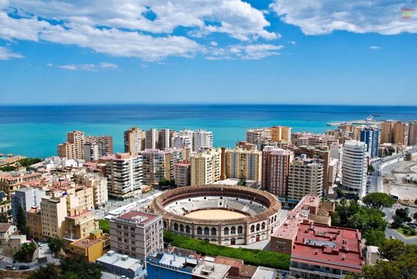 Город Малага в Испании