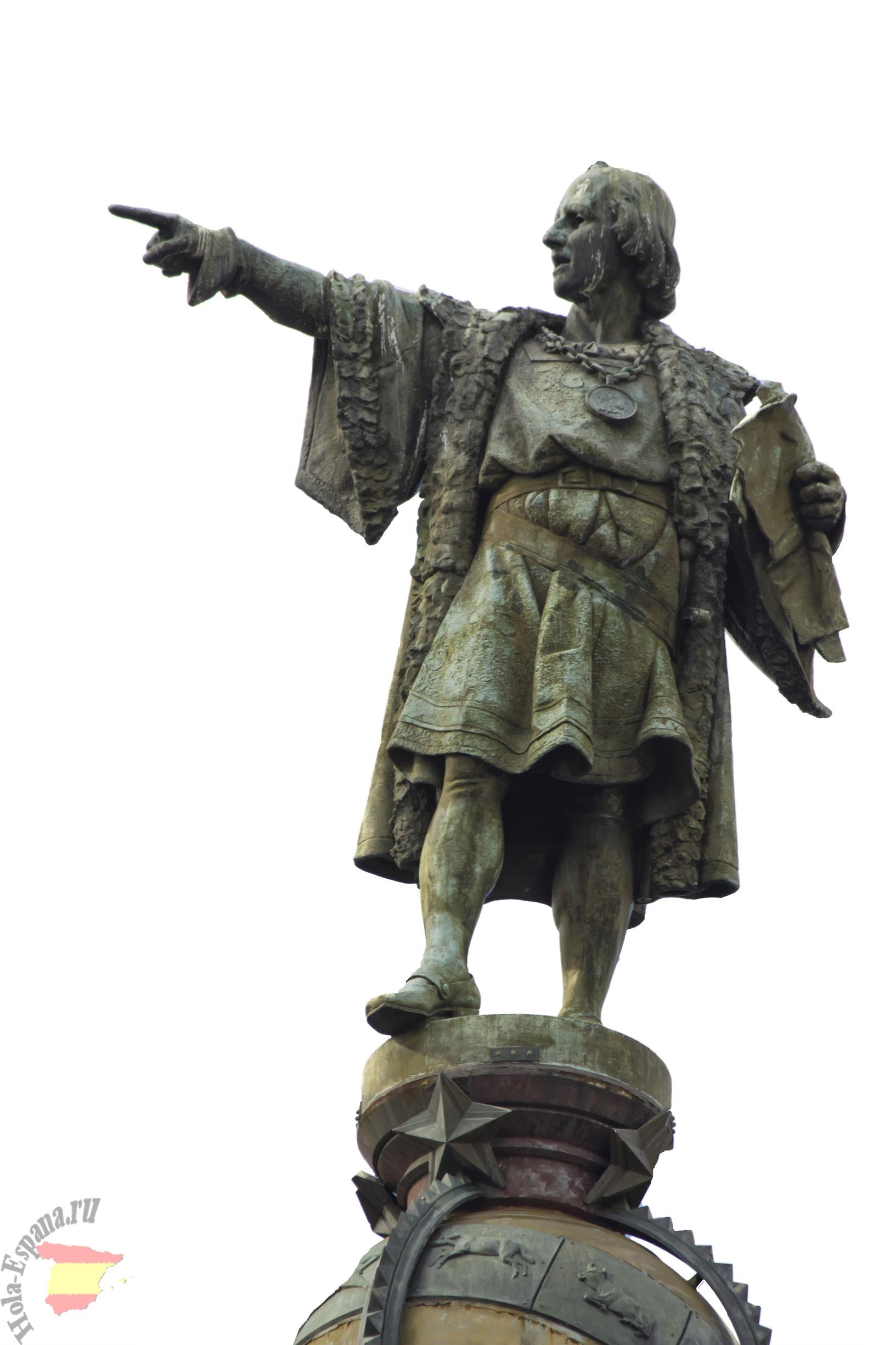 Памятник Христофору Колумбу недалеко от порта Барселоны