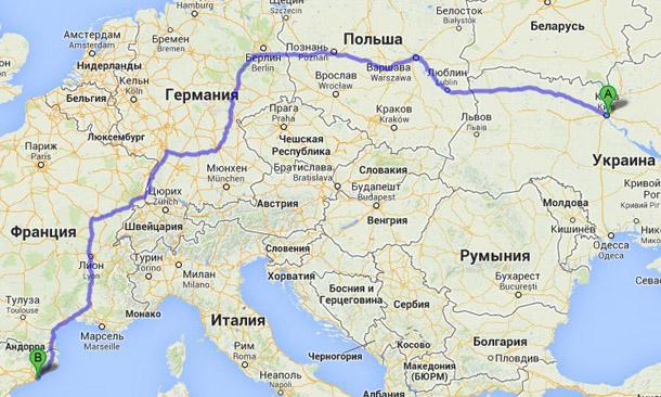 От Киева до Барселоны можно