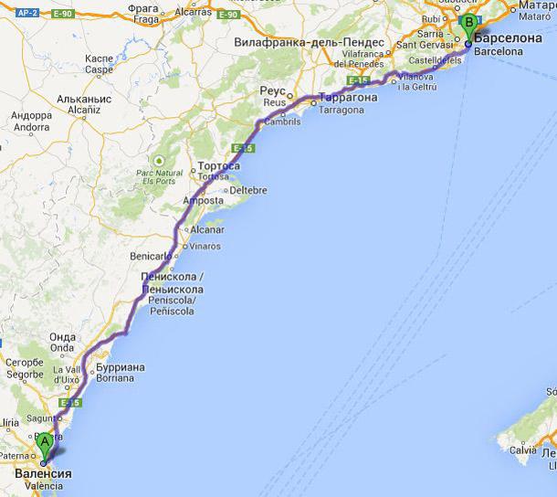 Добираемся из Валенсии в Барселону