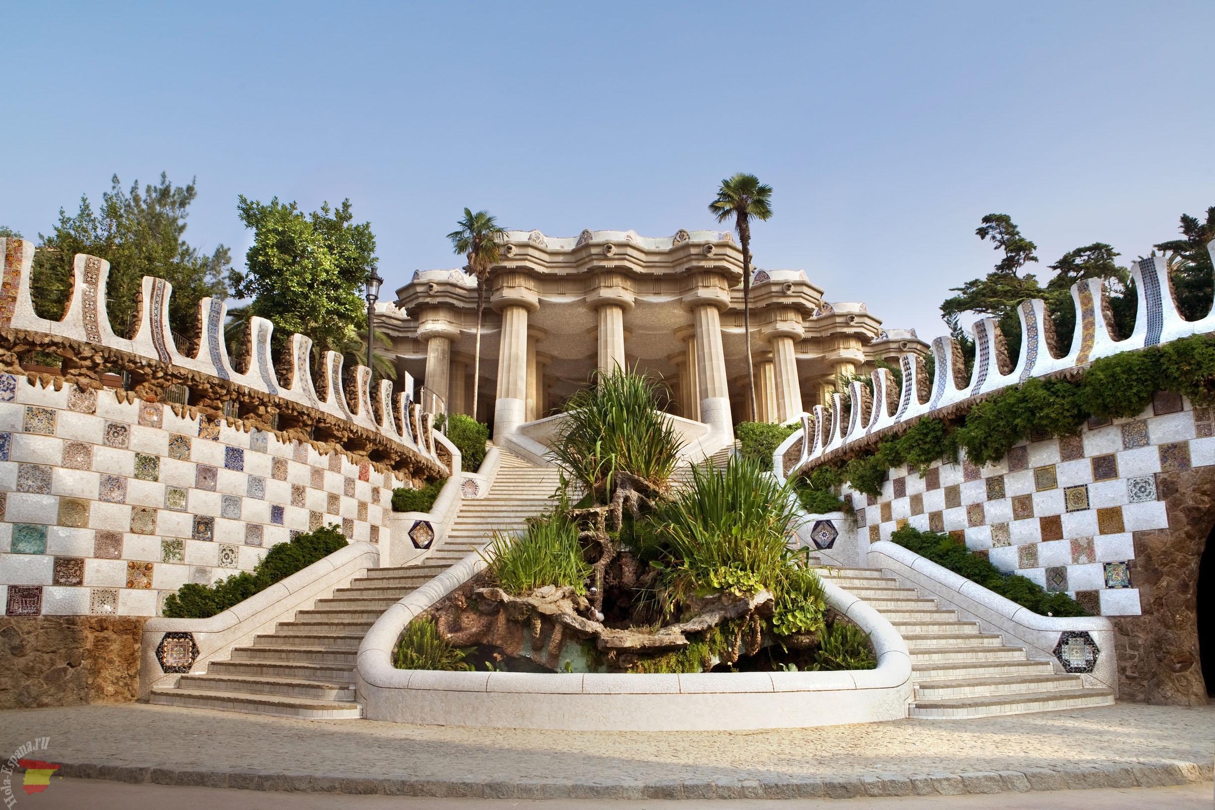 Знаменитый Парк Гуэля в Барселоне