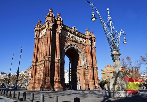 Arco de Trinufo in Barcelona - Catalunya - Spain
