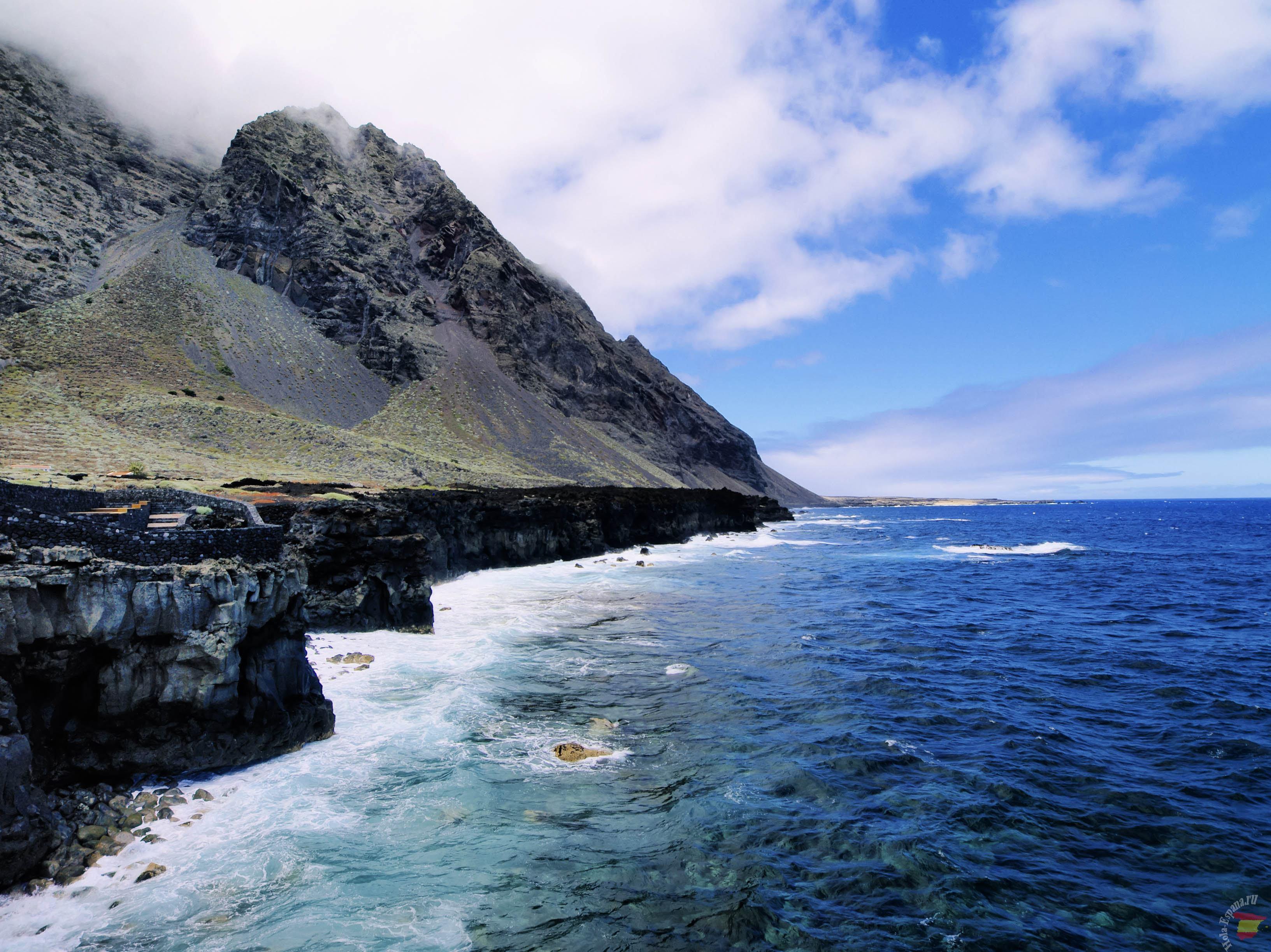 Скалистое побережье острова Иерро