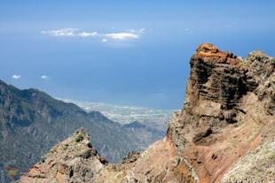 Вид с наивысшей точки канарского острова Пальма