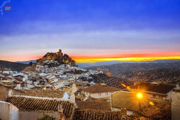 Вид на муниципалитет Монтефрио, что на подъезде к городу Гранаде