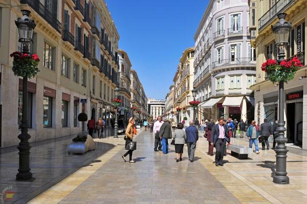 Улица Larios в историческом центре Малаги